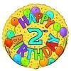 """18"""" happy second birthday"""