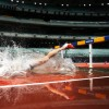 Victorian Open Track and Field championships at The MCG. Mens 3000m Steeplechase Final. Toby Med