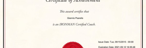 Ironman triathlon recertification coach