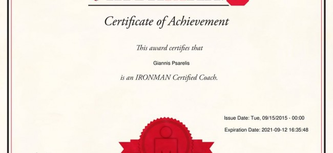 Ironman triathlon recertification coach