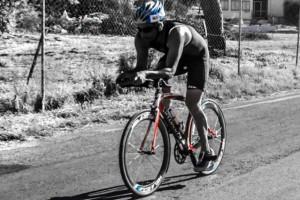 Triathlon Coach cycling in Kalamata