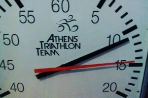 Athens Triathlon Team swimming clock