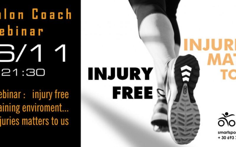 Injury free training triathlon environment