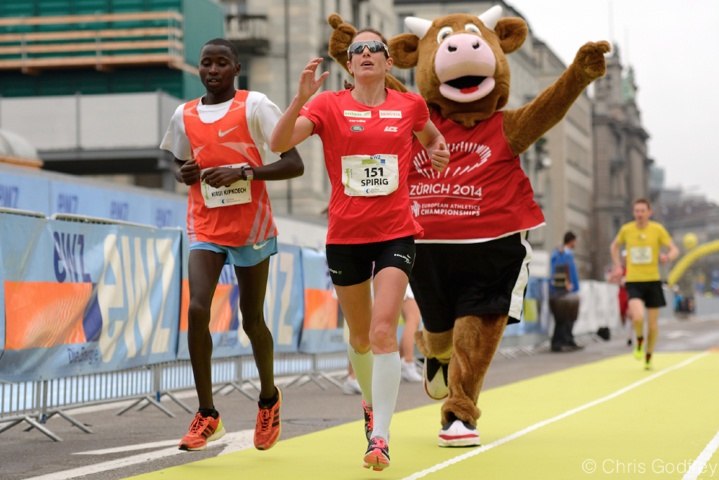Marathon Training :A brief analysis of N. Spirig's marathon pace.