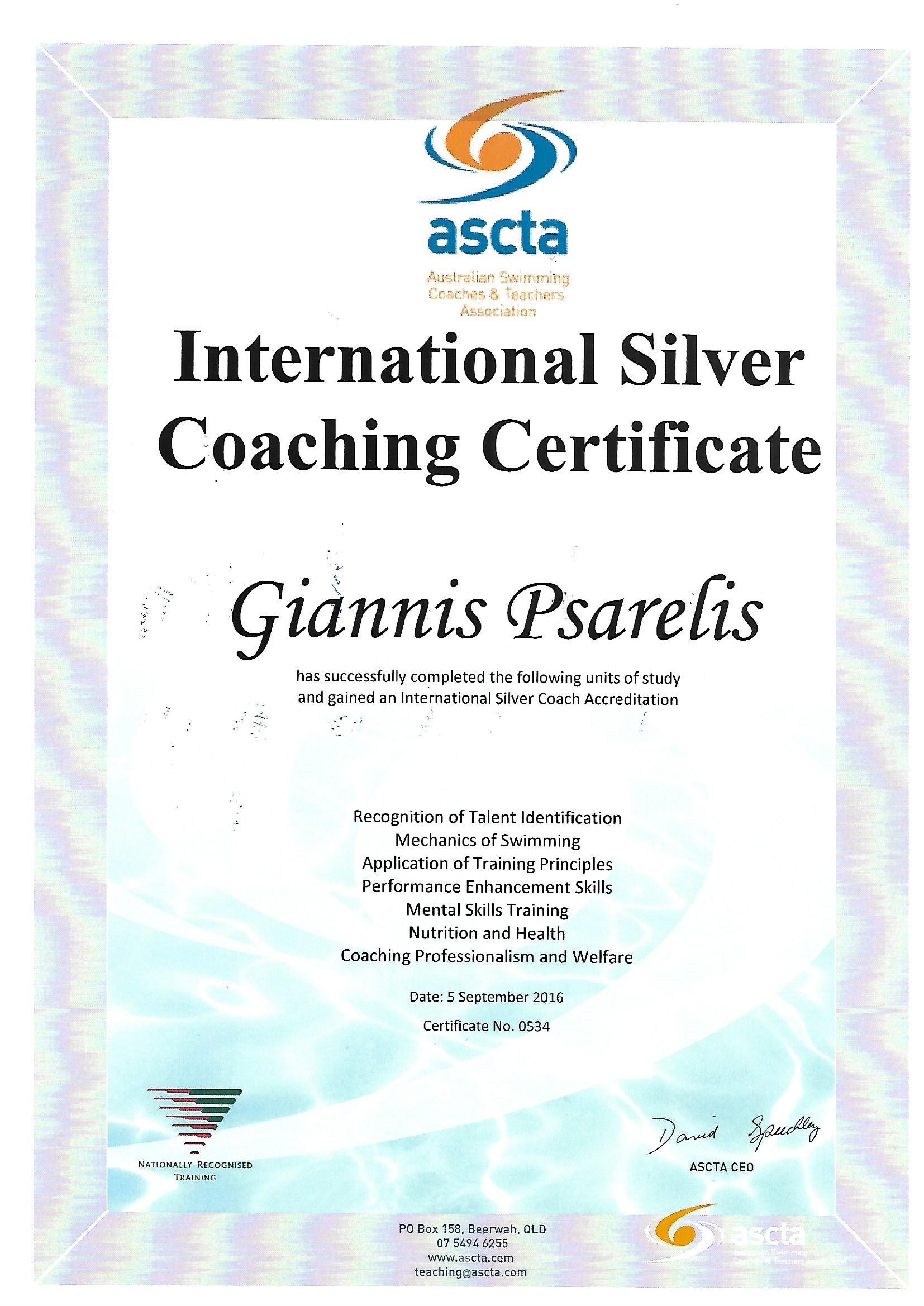 Triathlon Coach Psarelis Giannis