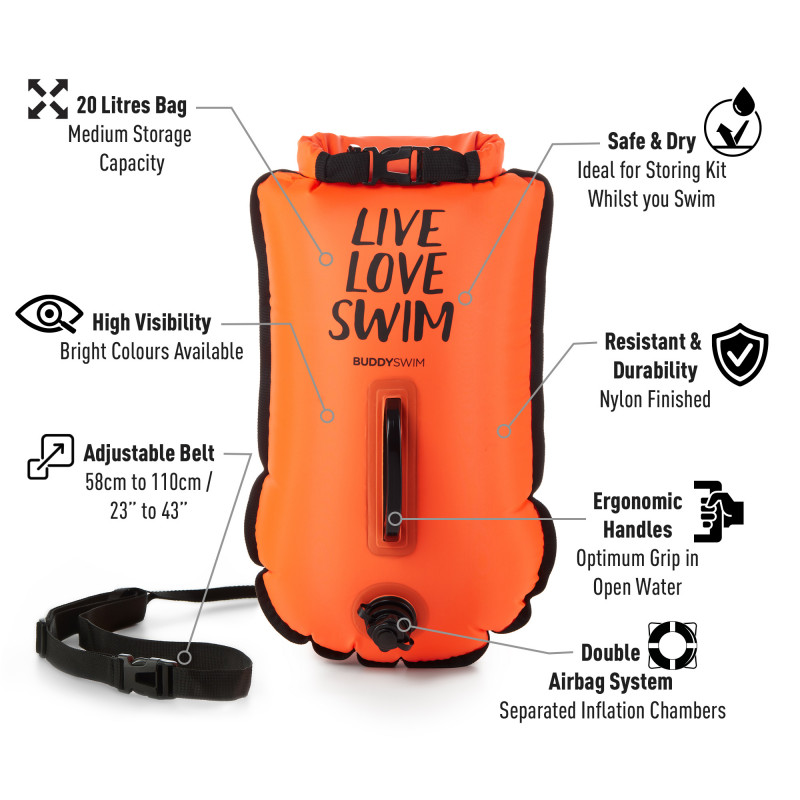 Drybag BuddySwim LLS 20lt, Orange